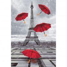 Kit point de croix - Nova Sloboda - Il pleut à Paris !