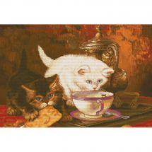 Kit point de croix - Nova Sloboda - Autour d'une tasse de thé