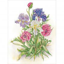 Kit point de croix - Nova Sloboda - Assortiment de fleurs
