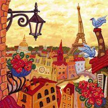 Kit de broderie avec perles - Nova Sloboda - Paris à travers le miroir
