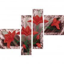 Kit de broderie avec perles - Nova Sloboda - Éclosion de fleurs - polyptique