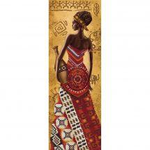 Kit de broderie avec perles - Nova Sloboda - Femme africaine avec une jarre