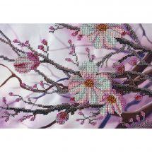Kit de broderie avec perles - Nova Sloboda - Fleur de pommier