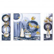 Kit de broderie avec perles - Nova Sloboda - Fleurs jaunes