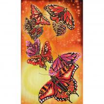 Kit point de croix avec perles - Nova Sloboda - Harmonie de papillons