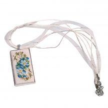 Kit de bijoux à broder - Life is beautiful - Pendentif rétro