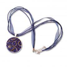 Kit de bijoux à broder perles - Life is beautiful - Pendentif blues