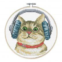Kit point de croix avec tambour - Ladybird - DJ Chaton