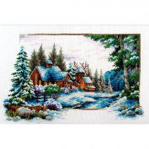 Kit point de croix - Needleart World - Paysage de neige