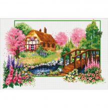 Kit point de croix - Needleart World - Chalet de printemps
