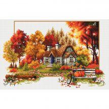 Kit point de croix - Needleart World - Chalet d'automne
