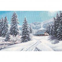 Kit point de croix - Oven - Jour d'hiver