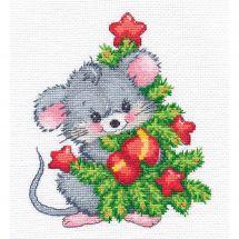 Kit point de croix - Oven - Souris et arbre de Noël