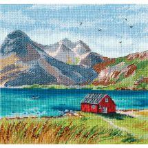 Kit point de croix - Oven - Iles Lofoten