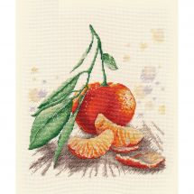 Kit point de croix - Oven - Mandarine