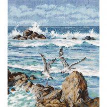 Kit point de croix - Oven - Le bruit des vagues