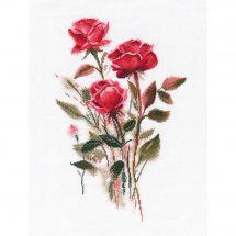 Kit point de croix - Oven - Roses