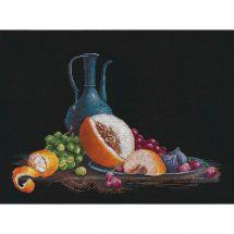 Kit point de croix - Oven - Nature morte au melon
