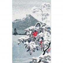 Kit point de croix - Oven - Paysage d'hiver et de montagnes