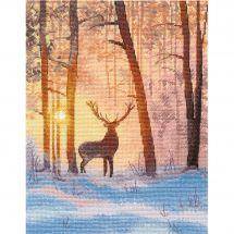 Kit point de croix - Oven - Dans la forêt d'hiver