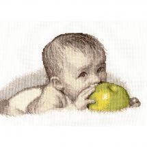 Kit point de croix - Oven - Bébé avec une pomme