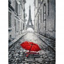 Kit point de croix - Oven - Paris sous la pluie