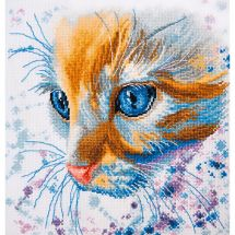 Kit point de croix - Oven - Tête de chat