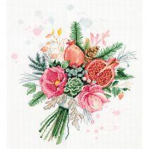 Kit point de croix - Panna - Bouquet de fleurs et grenades