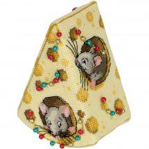 Kit d'ornement à broder - Panna - Fromage pour les souris