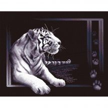 Kit point de croix - Panna - Tigre blanc