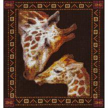 Kit point de croix - Panna - Famille girafe