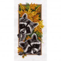 Kit point de croix - Panna - Ratons laveurs