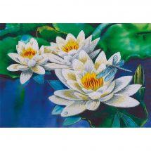 Kit au point de broderie  - Panna - Tendre lotus