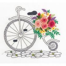 Kit au point de broderie  - Panna - Bouquet sur roues