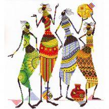 Kit point de croix - Panna - Femmes africaines