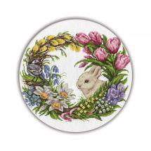 Kit point de croix - Panna - Couronne de printemps
