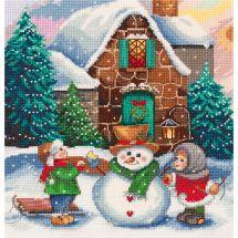 Kit point de croix - Panna - Scène d'hiver