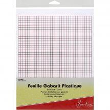 Feuille et papier de traçage - Sew Easy - 2 feuilles à gabarit - grille 7 mm
