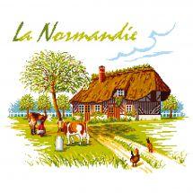 Kit point de croix - Luc Créations - La Normandie