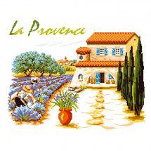 Kit point de croix - Luc Créations - La Provence