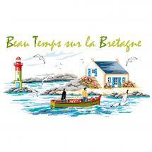 Kit point de croix - Luc Créations - Beau temps sur la Bretagne