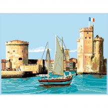 Kit point de croix - Luc Créations - Le port de la Rochelle