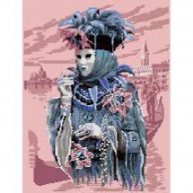 Kit point de croix - Luc Créations - Carnaval de Venise