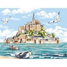 Kit point de croix - Luc Créations - Le Mont Saint-Michel