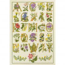 Kit point de croix - Permin - Abécédaire fleuri