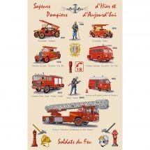 Kit point de croix - Luc Créations - Sapeurs pompiers