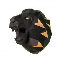 Puzzle 3D - Wizardi - Tête de lion noire et or