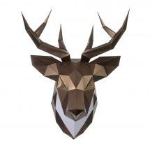 Puzzle 3D - Wizardi - Tête de cerf bronze