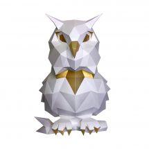 Puzzle 3D - Wizardi - Hibou blanc