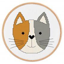 Kit point de croix - Princesse - Petit chat